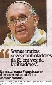 Francisco critica não-batismo de mães solteiras